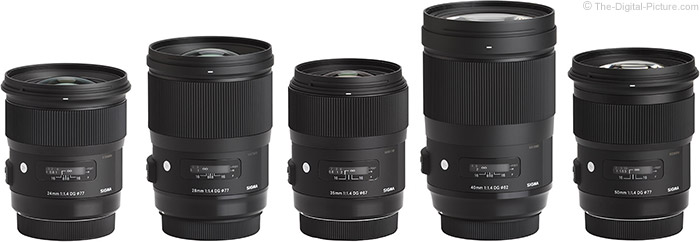 Sigma 28mm f/1.4 DG HSM Art Lens Compared to Similar Lenses