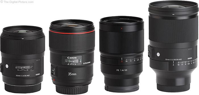 Sigma 35mm f/1.2 DG DN Art Lens Compared to Similar Lenses