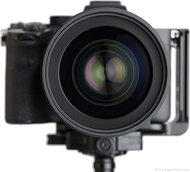 Sigma 35mm f/1.2 DG DN Art Lens Front View on Camera
