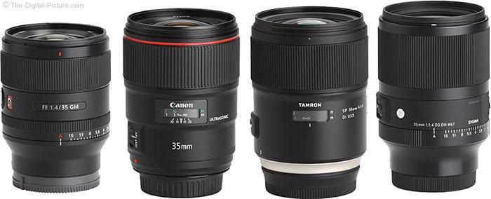 Sigma 35mm f/1.4 DG DN Art Lens Compared to Similar Lenses