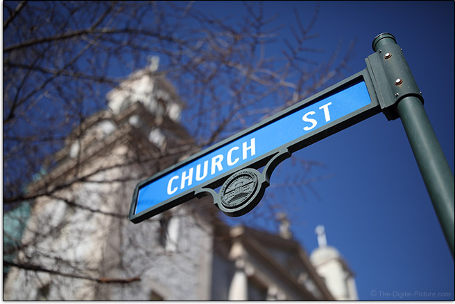 Sigma 40mm f/1.4 DG HSM Art Lens Church Street Sample Picture