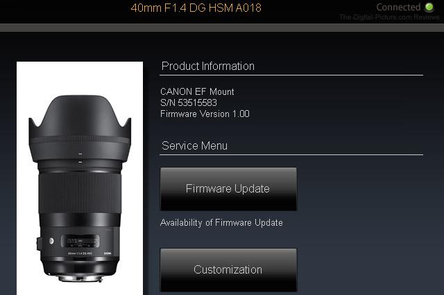 Sigma 40mm f/1.4 DG HSM Art Lens Dock Compatibility