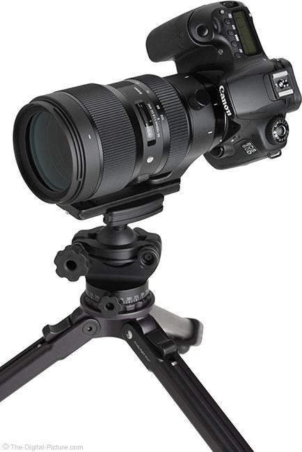 Sigma 50-100mm f/1.8 DC HSM Art Lens on Tripod