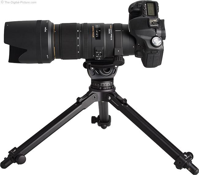 Sigma 50-150mm f/2.8 EX DC OS HSM Lens on Tripod