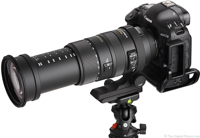 Sigma 50-500mm f/4.5-6.3 DG OS HSM Lens Angle View Extended