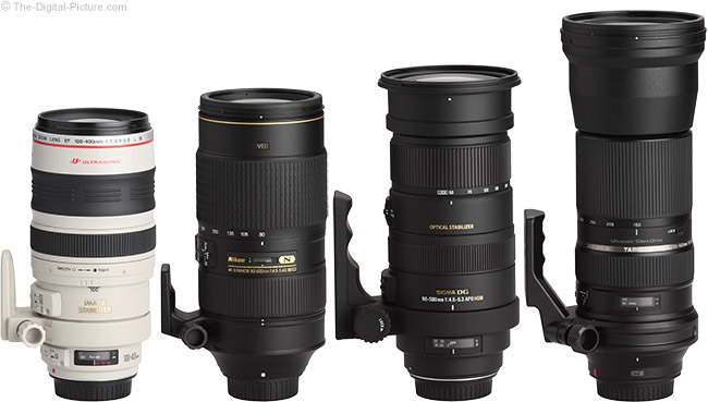 Sigma 50-500mm f/4.5-6.3 DG OS HSM Lens Compared to Similar Lenses