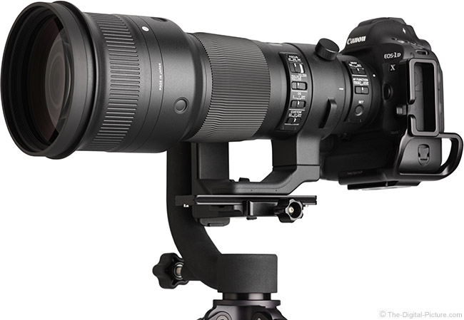 Sigma 500mm f/4 DG OS HSM Sports Lens Below View
