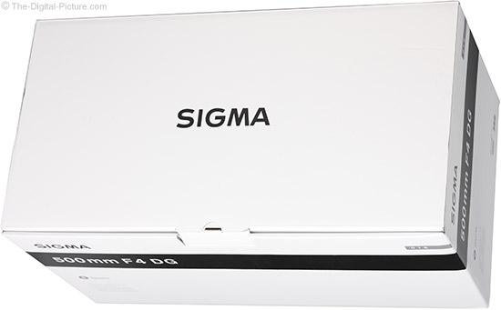 Sigma 500mm f/4 DG OS HSM Sports Lens Box