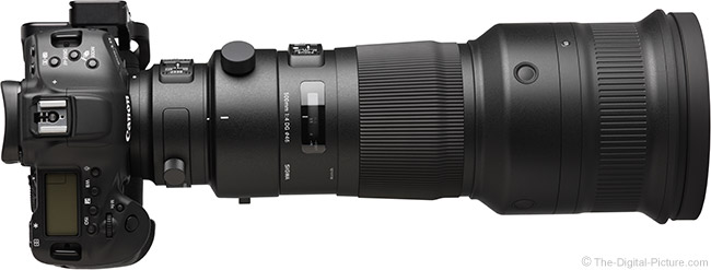 Sigma 500mm f/4 DG OS HSM Sports Lens Top View