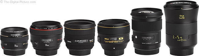 Sigma 50mm f/1.4 DG HSM Art Lens Compared to Similar Lenses