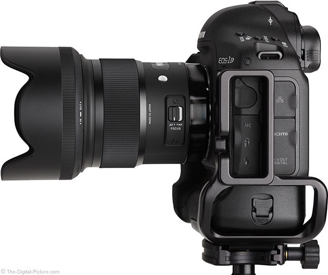 Sigma 50mm f/1.4 DG HSM Art Lens on Canon EOS-1D X – Side View