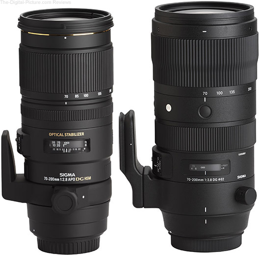 Sigma 70-200mm f/2.8 DG OS HSM Sports Lens Compared to Predecessor