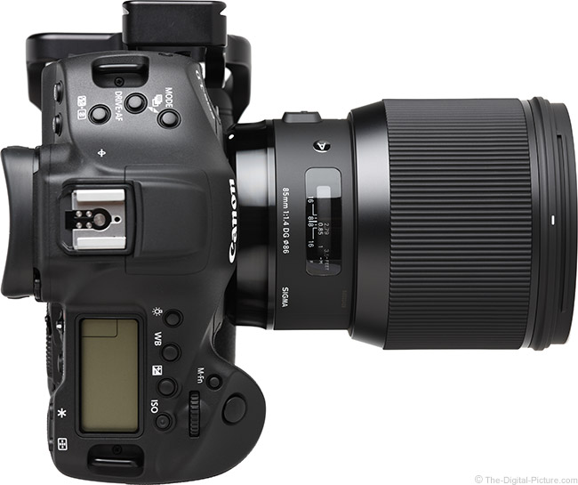Sigma 85mm f/1.4 DG HSM Art Lens Top View