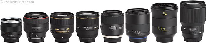 Sigma 85mm f/1.4 DG HSM Art Lens Compared to Similar Lenses