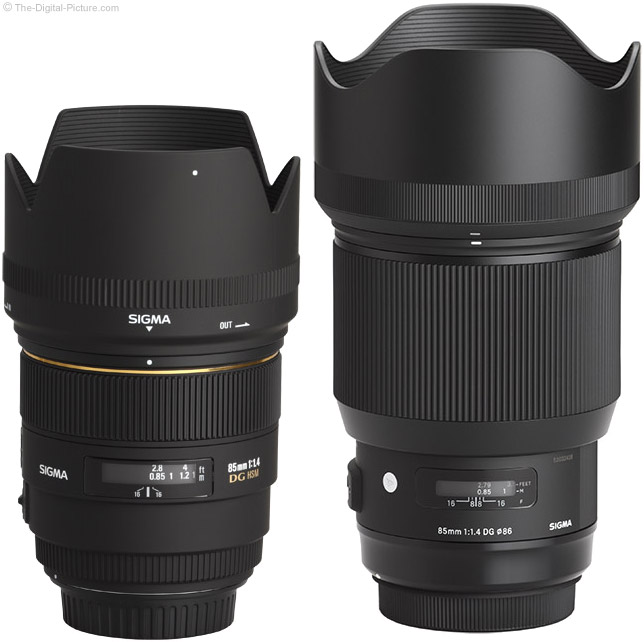 Sigma 85mm f/1.4 DG HSM Art Lens Compared EX Lens