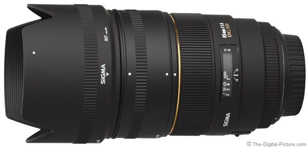 Sigma 85mm f/1.4 EX DG HSM Lens with Hood Extension