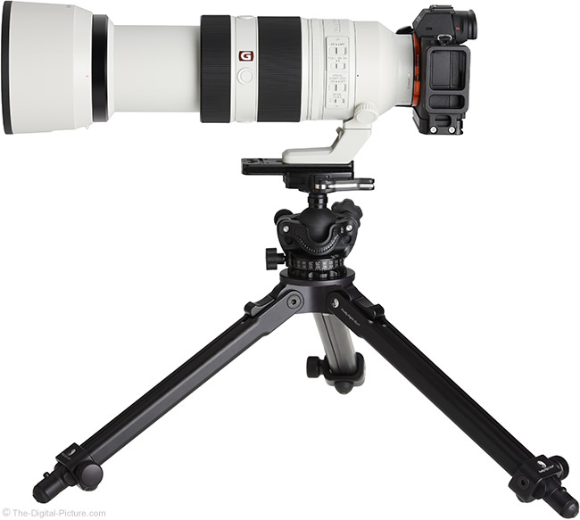 Sony FE 100-400mm GM OSS Lens Extended on Tripod