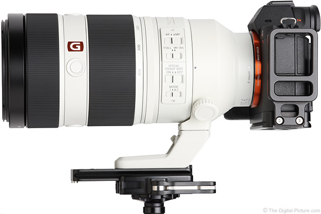 Sony FE 100-400mm GM OSS Lens Side View
