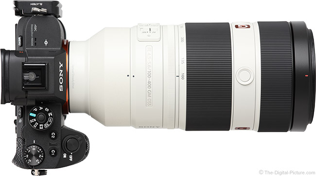 Sony FE 100-400mm GM OSS Lens Top View