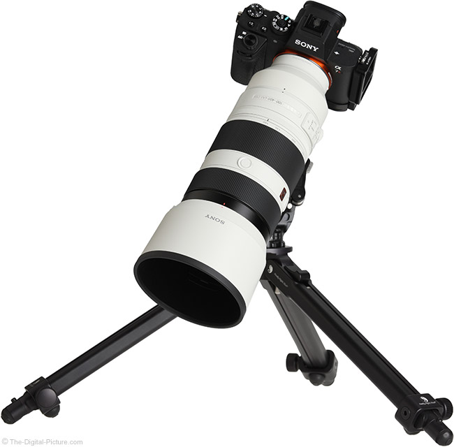 Sony FE 100-400mm GM OSS Lens on Tripod