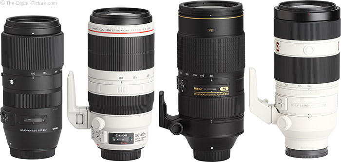 Sony FE 100-400mm GM OSS Lens Compared to Similar Lenses