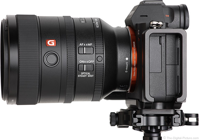 Sony FE 100mm f/2.8 STF GM OSS Lens Side View