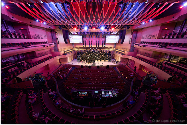 Sony FE 12-24mm f/2.8 GM Lens Concert Hall Sample Picture
