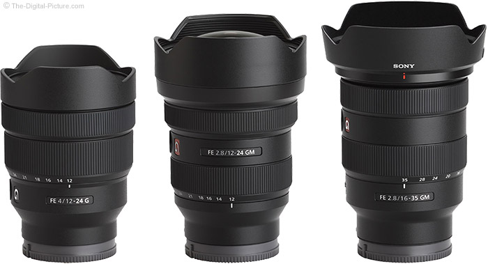 Sony FE 12-24mm f/2.8 GM Lens Compared to Similar Lenses