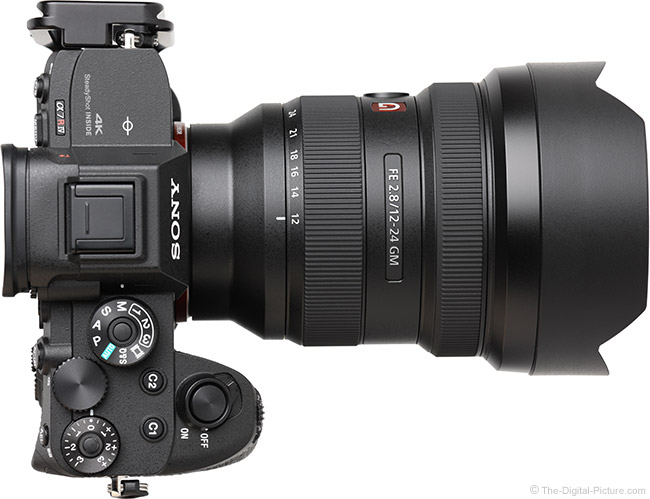 Sony FE 12-24mm f/2.8 GM Lens Top View
