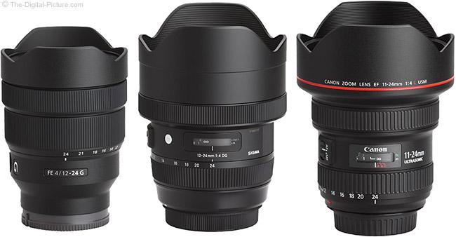 Sony FE 12-24mm f/4 G Lens Compared to Similar Lenses