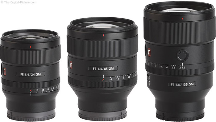Sony FE GM Lenses
