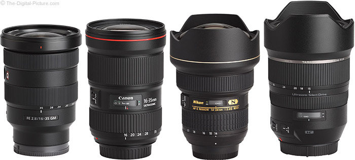 Sony FE 16-35mm f/2.8 GM Lens Compared to Similar Lenses
