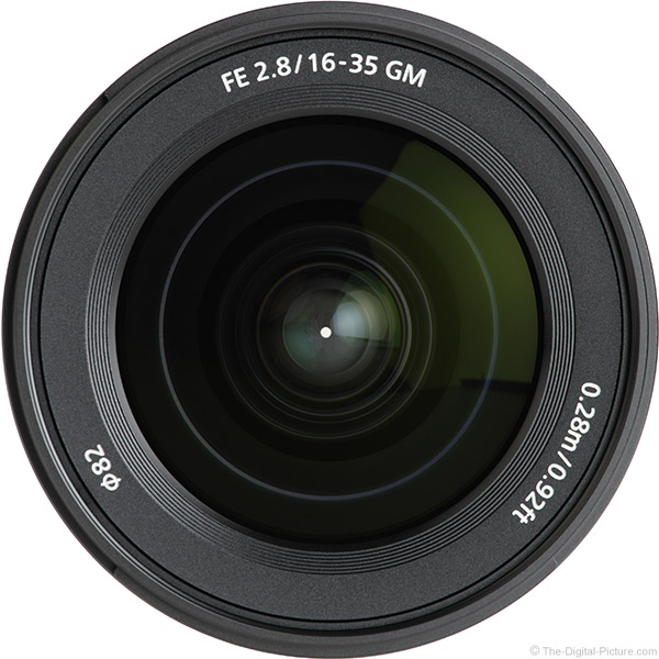 Sony FE 16-35mm f/2.8 GM Lens Front View