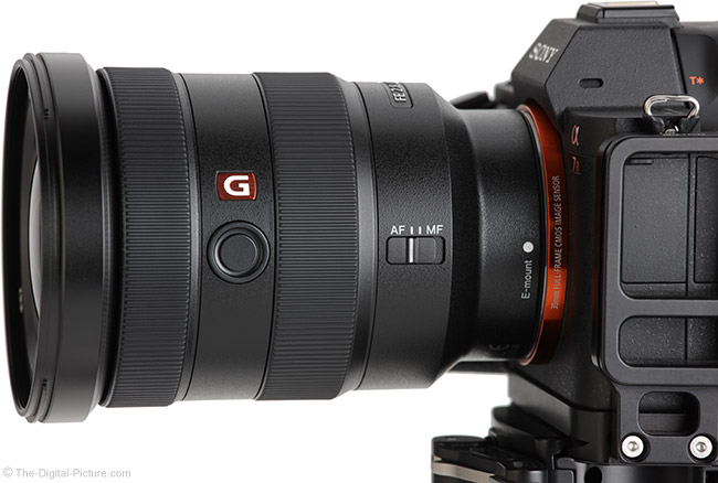 Sony FE 16-35mm f/2.8 GM Lens Side View
