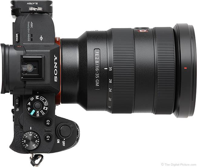 Sony FE 16-35mm f/2.8 GM Lens Top View