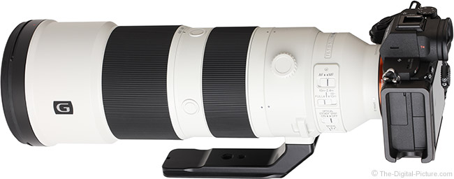 Sony FE 200-600mm f/5.6-6.3 G OSS Lens Angle Back View