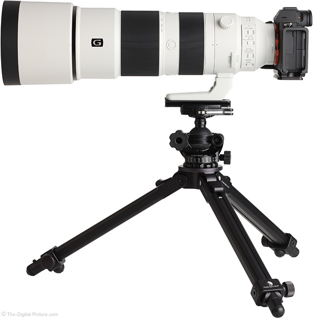 Sony FE 200-600mm f/5.6-6.3 G OSS Lens Side View with Hood