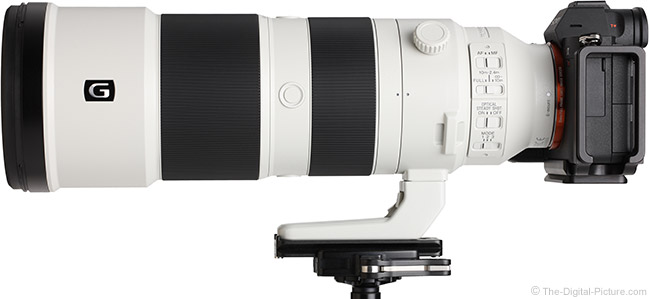 Sony FE 200-600mm f/5.6-6.3 G OSS Lens Side View