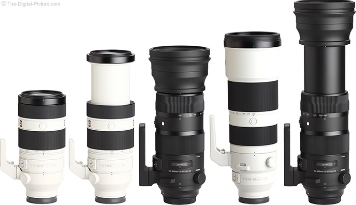 Sony FE 200-600mm f/5.6-6.3 G OSS Lens Compared to Similar Lenses