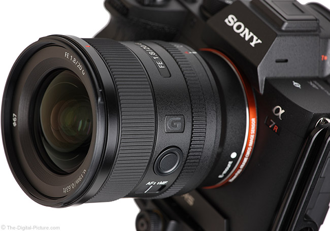Sony FE 20mm f/1.8 G Lens Angle View