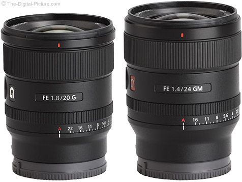 Sony FE 20mm f/1.8 G Lens Compared to Sony FE 24mm f/1.4 GM Lens