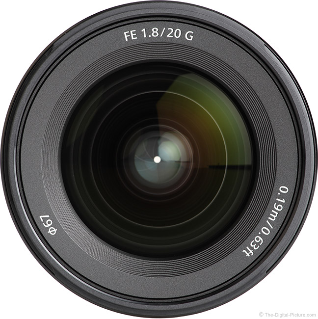 Sony FE 20mm f/1.8 G Lens Front View