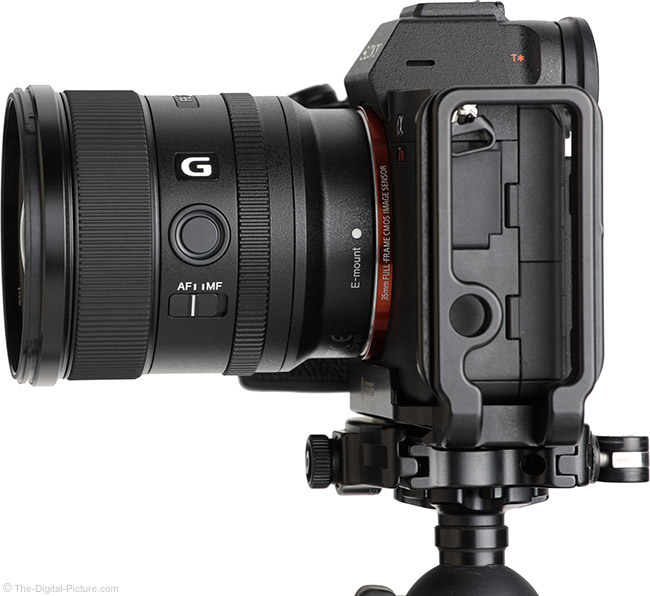 Sony FE 20mm f/1.8 G Lens Side View