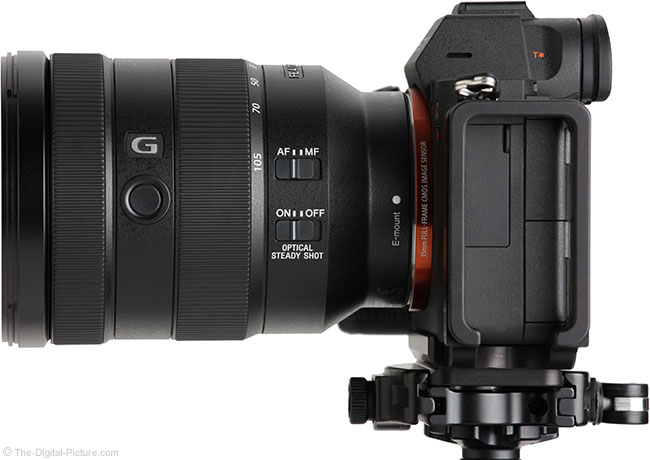 Sony FE 24-105mm f/4 G OSS Lens Side View