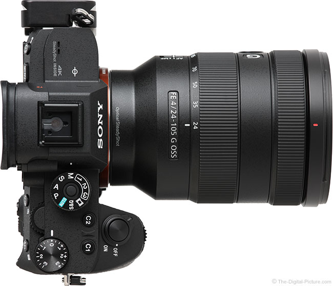 Sony FE 24-105mm f/4 G OSS Lens Top View