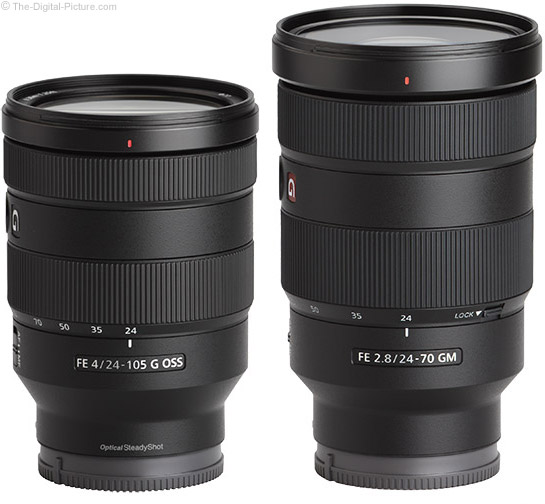 Sony FE 24-105mm f/4 G OSS Lens and 24-70mm f/2.8 GM Lens Comparison