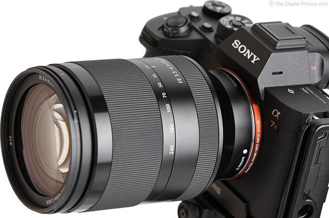 Sony FE 24-240mm f/3.5-6.3 OSS Lens Angle View