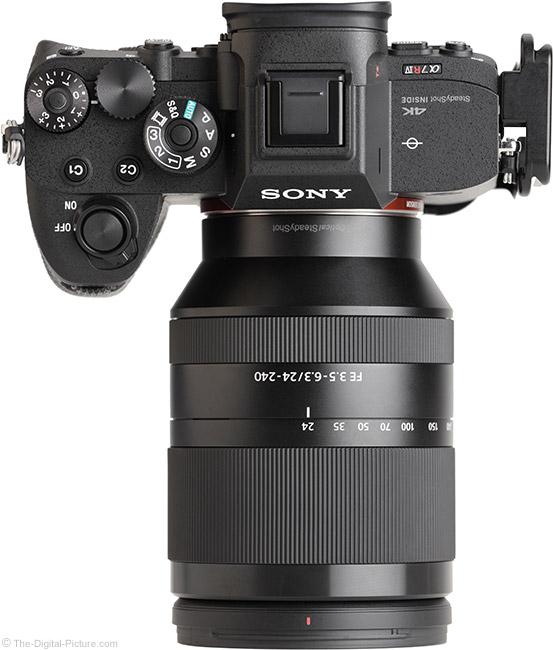 Sony FE 24-240mm f/3.5-6.3 OSS Lens Top View