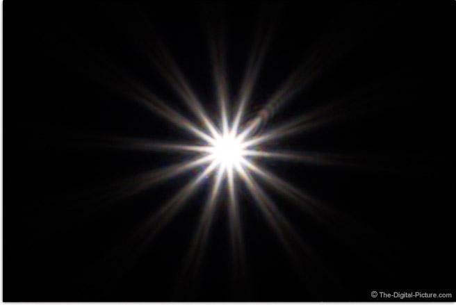 Sony FE 24-240mm f/3.5-6.3 OSS Lens Sunstar Effect Example
