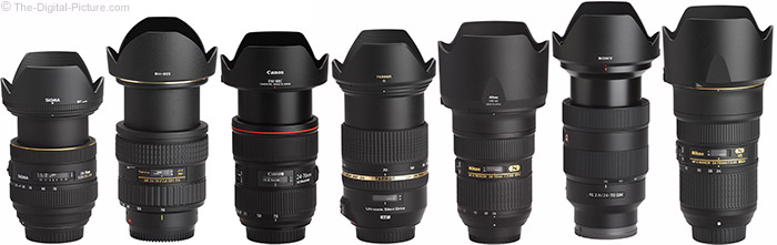 Sony FE 24-70mm f/2.8 GM Lens Compared to Similar Lenses with Hoods